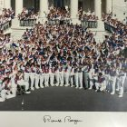 The entire 1988 U.S. Olympic team was hosted by President Ronald Reagan, at the White House.