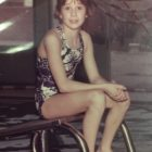 Betsy, age 9, at the Marietta, Ohio YMCA, where she was a member of the Marietta Marlins swim team.